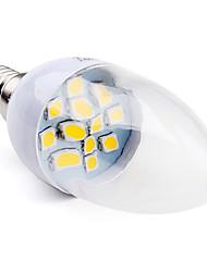 3W E14 LED Candle Lights C35 12 SMD 5050 100 lm Warm White AC 220-240 V