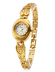 Women's Bracelet Watch Quartz Band Heart shape Elegant Gold Brand