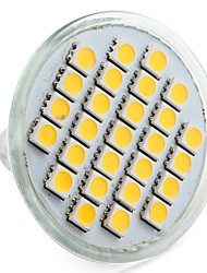 4w e14 / gu10 / gu5.3 / e26 / e27 projecteur led mr16 27 smd 5050 200-250 lm blanc chaud / naturel dc12v / 220v