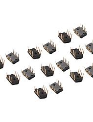 20 штук 2,54 мм Шаг 4 позиции микросхемы типа DIP-переключатель черный DIY