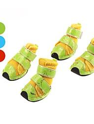 Funky do estilo de malha de fita de nylon prendedor sapatos para cães (cores sortidas, xs-xl)