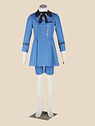 Inspiré par Black Butler Ciel Phantomhive Anime Costumes Cosplay Costumes Cosplay Mosaïque Bleu Manche LonguesManteau / Chemise /