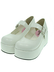 Lolita Shoes Classic/Traditional Lolita Lolita Platform Shoes Solid 7 CM White For Women PU Leather/Polyurethane Leather