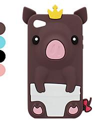 Etui en Silicone Style Cochon pour iPhone 4/4S - Couleurs Assorties