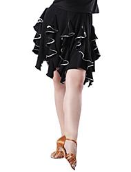 upea dancewear pellava suorituskyky / käytännön Latinalainen tanssi hame naisille (enemmän värejä)