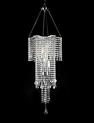 Max 60W Modern/Contemporary Crystal / Mini Style Electroplated Pendant Lights Living Room / Bedroom / Dining Room
