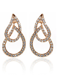 18K Gold Plated Clear Rhinestone & Crystal  Fashion Earrings