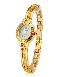 Women's Fashionable Style Alloy Analog Quartz Bracelet Watch (Gold) Cool Watches Unique Watches Strap Watch