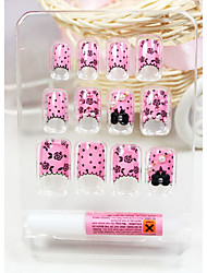 Lovely Pink falsche Tips Nail Art