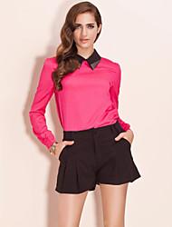 TS Color Block Metal Blouse Shirt (More Colors)