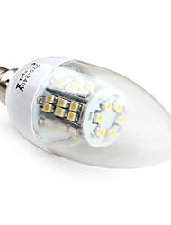E14 smd 3528 48led 200lm 2.8W branco quente lâmpadas vela (220-240v)