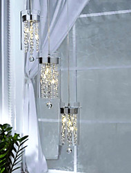Artistic Crystal Pendant Lights with Glass Shades