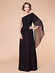 A-line Plus Sizes Mother of the Bride Dress - Black Floor-length Sleeveless Chiffon
