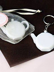 Love is Brewing' Teapot Tape Measure Keychain