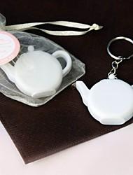 Plastik Keychain Favors Stück / Set Schlüsselanhänger Garten Thema Weiß
