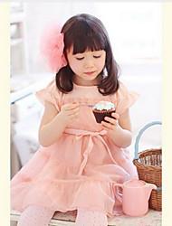 стильных девушек кружева чистая пряжа короткое платье принцессы рукавом
