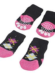 Socken & Schuhe für Hunde Schwarz Frühling/Herbst S / M / L Baumwolle