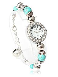Classique Forme ronde Mouvement Quartz avec Montre-bracelet en cristal