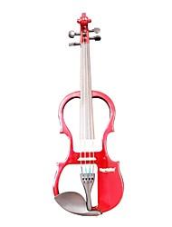 Cozart - (ml013) 4/4 parties jujube violon électrique avec étui / arc / résine / câble / batterie