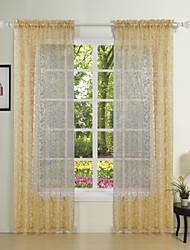 TWOPAGES® Two Panels  Elegant Princess Fancy Sheer Curtains Drapes
