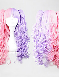 Lolita Curly Wig Inspired by Pink and Purple Mixed Color Ponytail 70cm Sweet