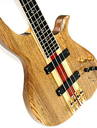 Derulo - (DN1) Professional Russian Elms Electric Bass Guitar with Gig Bag/Strap/Picks/Cable