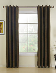 Two Panels Modern Solid Red Dining Room Polyester Panel Curtains Drapes