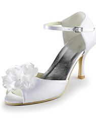 damesschoenen zijde naaldhak hakken / peep toe hakken bruiloft / feest&avond / jurk wit