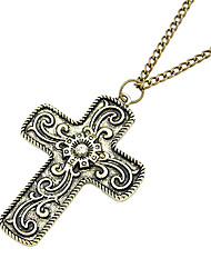 Fashion Retro Cross Long Necklace