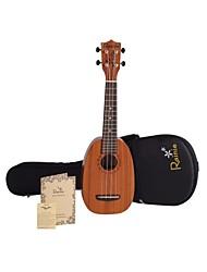 Rainie - (p30) ad alta grande solido ukulele concerto in mogano con gig bag / sintonizzatore (forma ananas)
