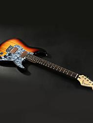 Derulo - profissional alder stratocaster guitarra elétrica com saco de correia / / picks / cabo / barra whammy
