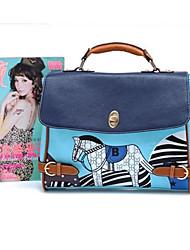 saco azul retro refinado (33cm * 10cm * 23cm)