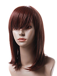 Capless Heat-resistant Fiber Long Red Straight Hair Wig