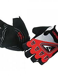 LAMBDA-Men's Cycling Short Finger Gloves(Blue Black Red)