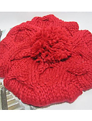 Women's Fashion Lovely Solid Color Knitted Hat(Circumference 56-58cm)