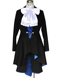 Inspirado por Black Butler Ciel Phantomhive Anime Fantasias de Cosplay Ternos de Cosplay Cor Única Manga LongaPeitilho Casaco Colete