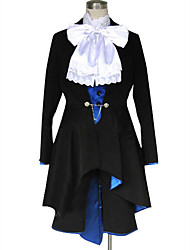 Inspirado por Black Butler Ciel Phantomhive Animé Disfraces de cosplay Trajes Cosplay Un Color Manga LargaPañuelo Chaqueta Chalecos
