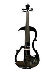Copy To Timothy - (EV800) 4/4 Ebony Parts Electric Violin with Case/Rosin/Cable/Headphone/Battery (Multi-Color)