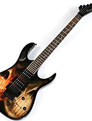 Derulo - profissional cruzados guitarra stratocaster elétrica com saco de correia / / picks / cabo / barra whammy