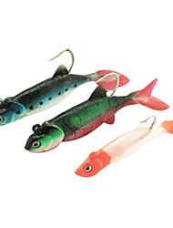 PVC souple pour Bait pêche en mer / pêche en eau douce avec 1/0 # Crochets (3 pièces)
