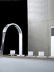 Sprinkle® - par LightInTheBox - robinet de baignoire en laiton contemporaine avec douche à main - fini chrome