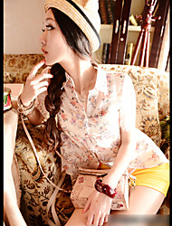 Summer Lady Lace Splice Blouse