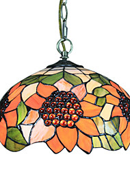 60W Tiffany Pendent Light in Floral Pattern