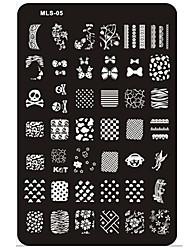 ногтей тиснения / штампа изображения шаблон пластины ногтей трафареты / формы для акриловых ногтей советы мл серия № 5