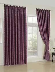 (One Panel)Jacquard Floral Traditional Blackout Curtain