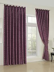 twopages® un solo panel de jacquard floral cortina blackout tradicional