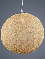 Creative trend paper rattan lighting room bedroom study living room lighting American retro Restaurant