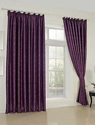 (One Panel)Floral Jacquard Traditional Blackout Curtain