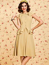 ts safra 1950 vestido plissado balanço