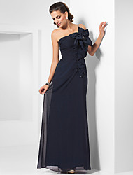 TS Couture® Formal Evening / Military Ball Dress - Elegant Plus Size / Petite Sheath / Column One Shoulder Floor-length Chiffon with Beading /